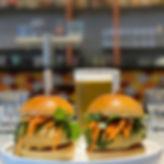 Vada Pav Bombay Burger Schooner Beer.jpg