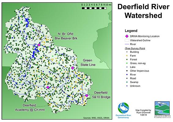 Deerfield iTree Map.png