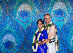 Bride and groom portrait in Chennai
