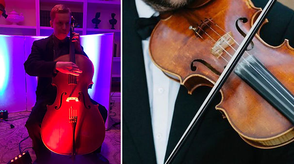 Cellist Violinist Los Angeles Wedding.jp