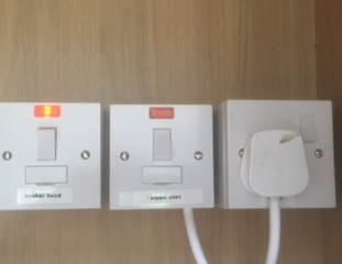 Kitchen oven switches