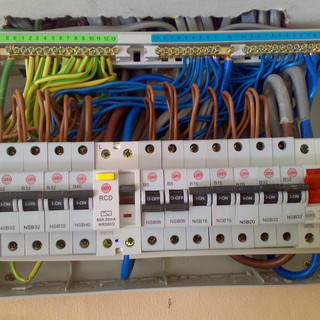 Inside a consumer unit