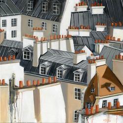 Sur les toits parisiens  60x60