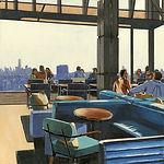 Manhattan's Rooftop 80x80 huile sur toil