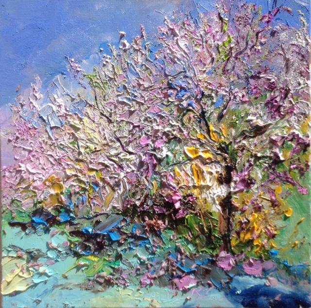 les cerisiers de Divonnes 50X50