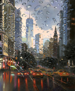 RAINNING DAY IN NY 100X81