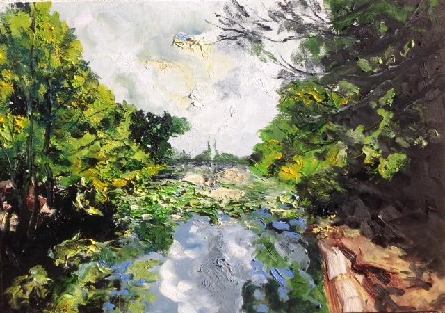Le lac de Sollies 92x65