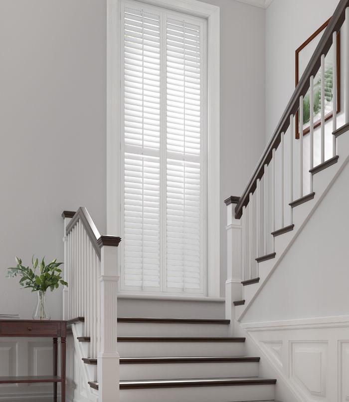 Full Height Pure White shutters