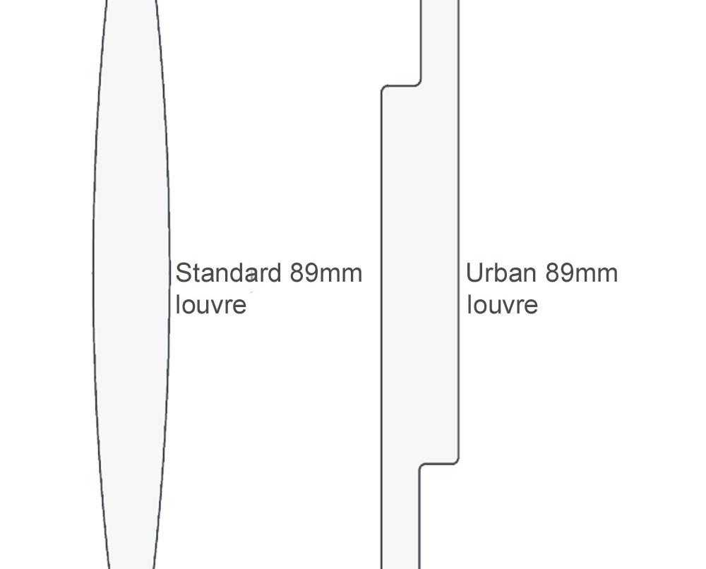 Standard & Urban louvre comparison