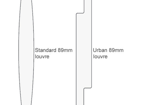Urban louvres - a modern twist