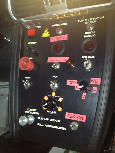 Control panel Porsche 997 Cup S