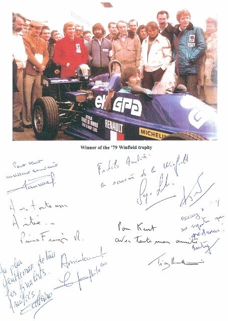 signed winners circle photo Winfield