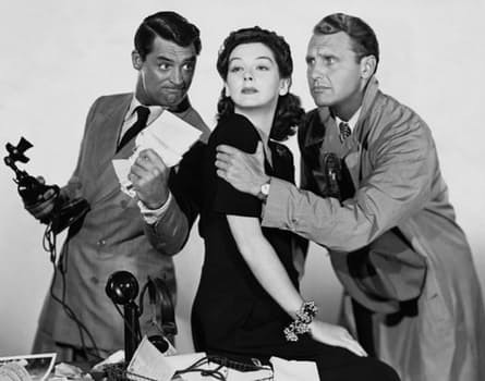 cary grant,rosalind russell, ralph bellamy, actor, production assistant training