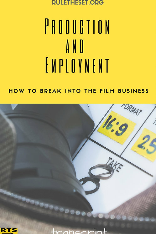 How To Break Into The Film & TV Business
