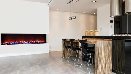 """Tru-View-XL 72"""" 3 Sided Fireplace"""