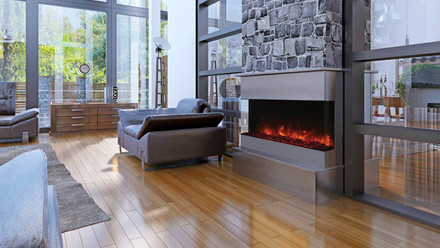 """Tru-View-XL 40"""" 3 Sided Fireplace"""