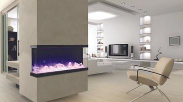 """Tru-View-XL 50"""" 3 Sided Fireplace"""
