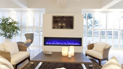 """Symmetry 74"""" Electric Fireplaces"""