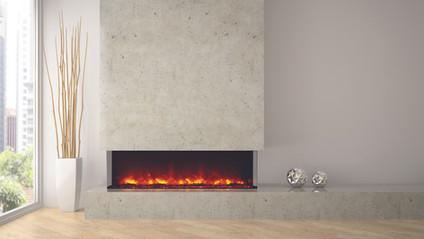 """Tru-View-XL 60"""" 3 Sided Fireplace"""