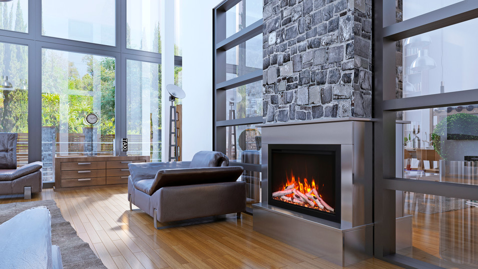 """Traditional 33"""" Fireplace"""