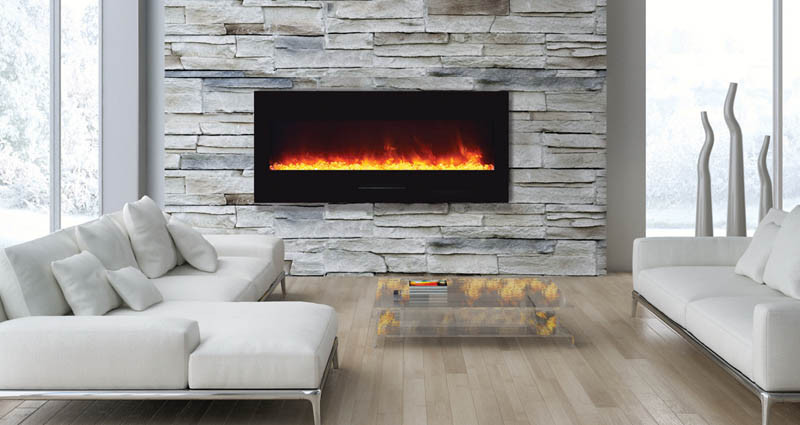 Wall Mount, Flush Mount Series Electric Fireplace