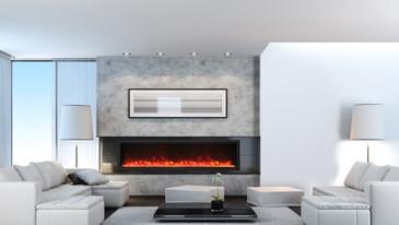 """Deep-XT 88"""" Fireplace"""