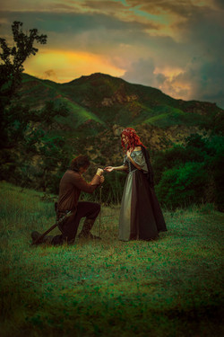 Lord of the Rings Couples Photoshoot   Fantasy Engagement   Fairytale Fine Art