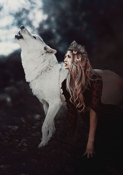 Wolf Photography   Girl with Wolves   Princess Photoshoot   Southern California Fantasy Photographer