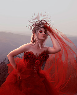 Red Enchantress Photoshoot   Magical Photography   Ethereal Portraiture   Fantasy Photoshoot   Fine