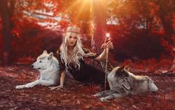 Photoshoot with Wolves   Ethereal Portraiture   Fantasy Photoshoot   Fine Art Photography   Fairytal