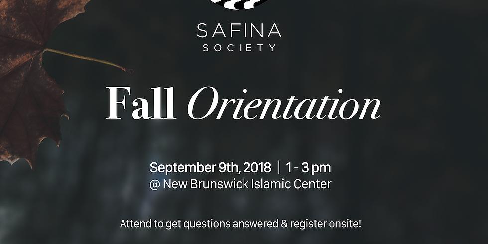Safina Society Orientation 2018-2019