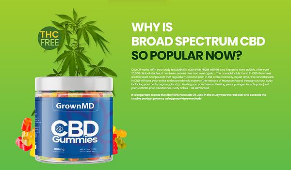 Why Is GrownMD CBD Gummies