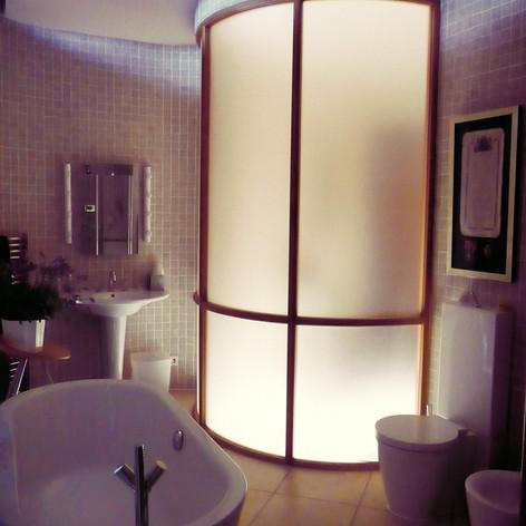 Ensuite Bathroom at night-time