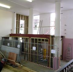 Mezzanine Studwork