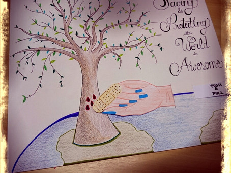 Nations' Students Take Part in Earth Day Art Contest Sponsored by the U.S. Embassy