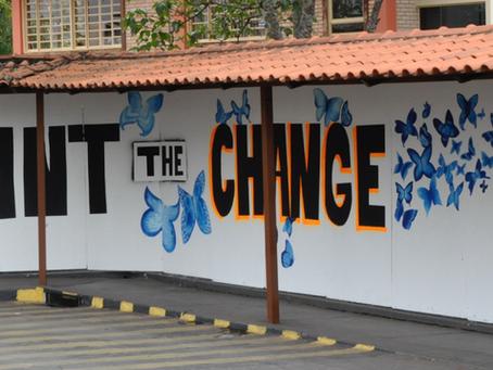 Escola das Nações Adere à Campanha Pinte a Mudança - Educação Não É Crime