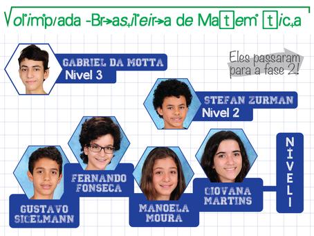 Alunos da Escola das Nações são Aprovados na Primeira Fase da Olimpíada Brasileira de Matemática