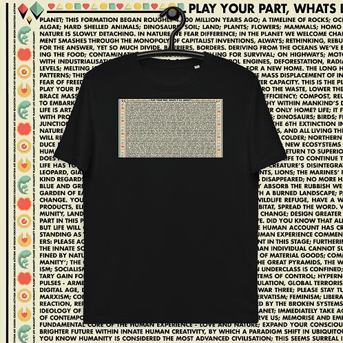 Play Your Part | Unisex organic cotton t-shirt