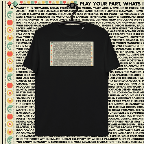 Play Your Part (Unisex organic cotton t-shirt)