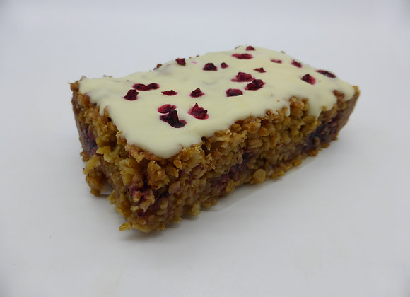 Choc Orange/Rasp Flapjack Box