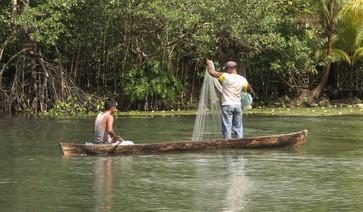 Río Dulce rybáři Ranatours