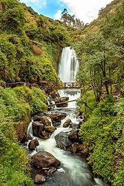 Poznávací zájezd Ekvádor vodopád Peguche