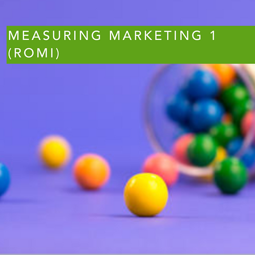 Measuring Marketing 1 (ROMI)