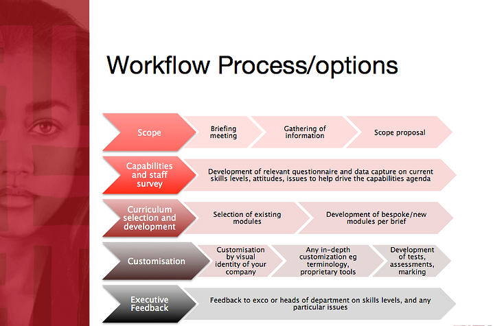 Workflow process of how we build an in-house marketing academy