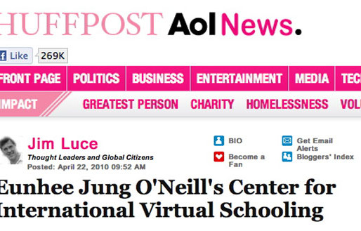 IVECA Founder Eunhee Jung Featured in Huffington Post