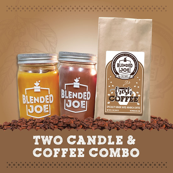 Tara's Daily Deals - Two Candle & Coffee Combo