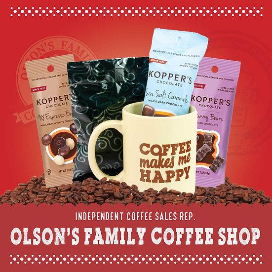 Olson Coffee Shop - Mug-Oh-Happiness