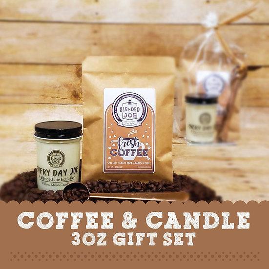 Coffee & Candle 3oz Gift Set