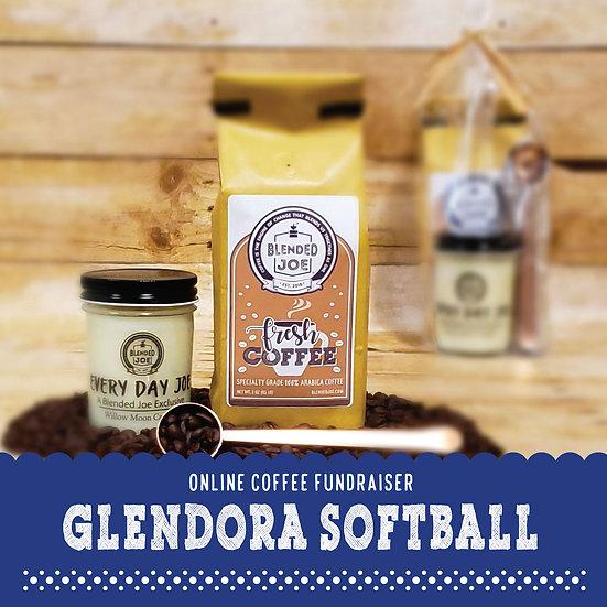 Glendora Softball - Coffee & Candle 12oz Gift Set