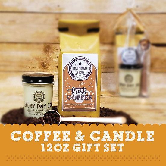 Coffee & Candle 12oz Gift Set